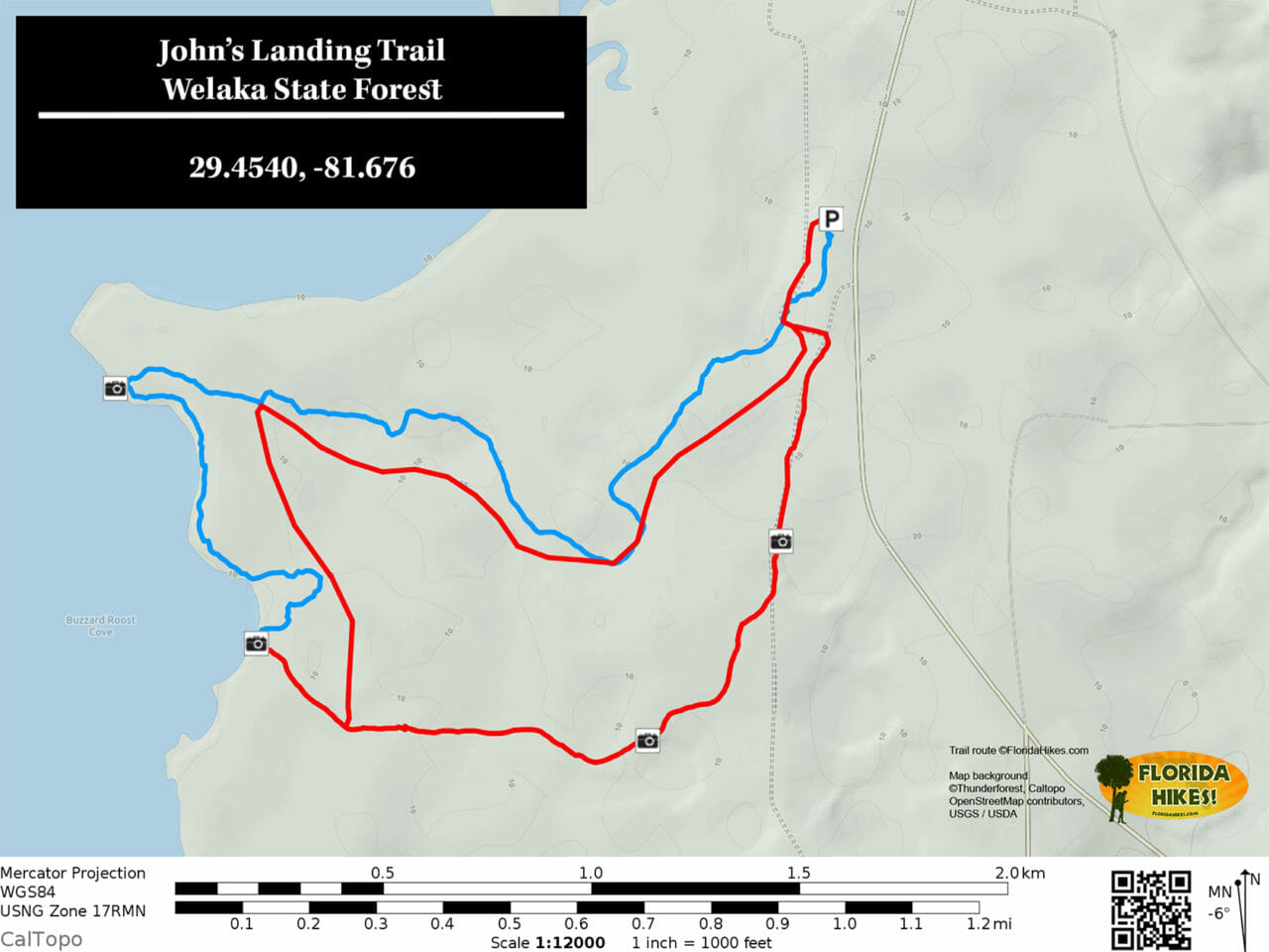 Johns Landing Trail map