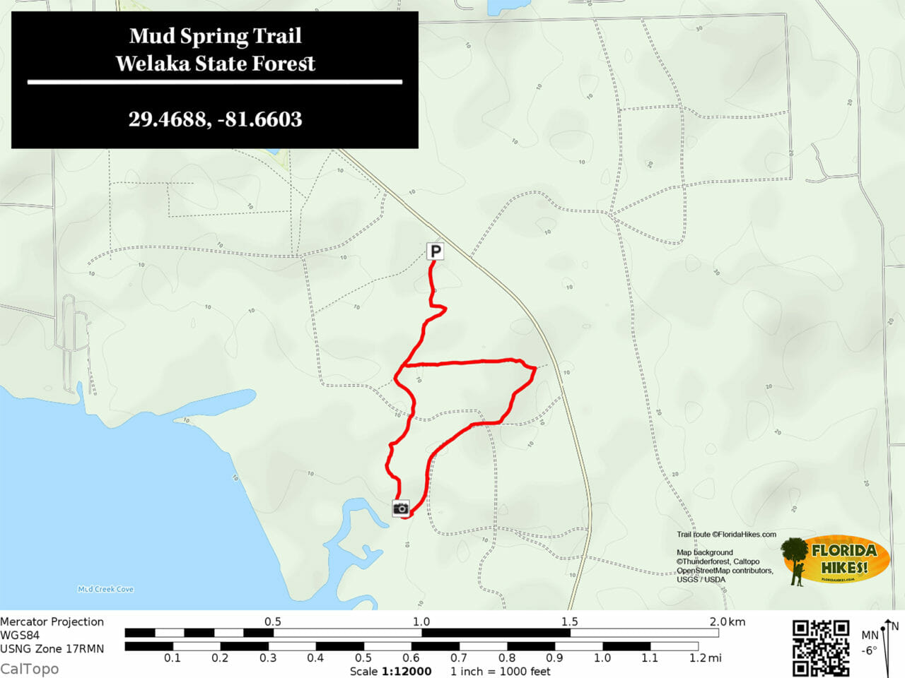 Mud Spring Trail map