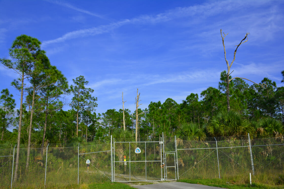 North gate Big Cypress