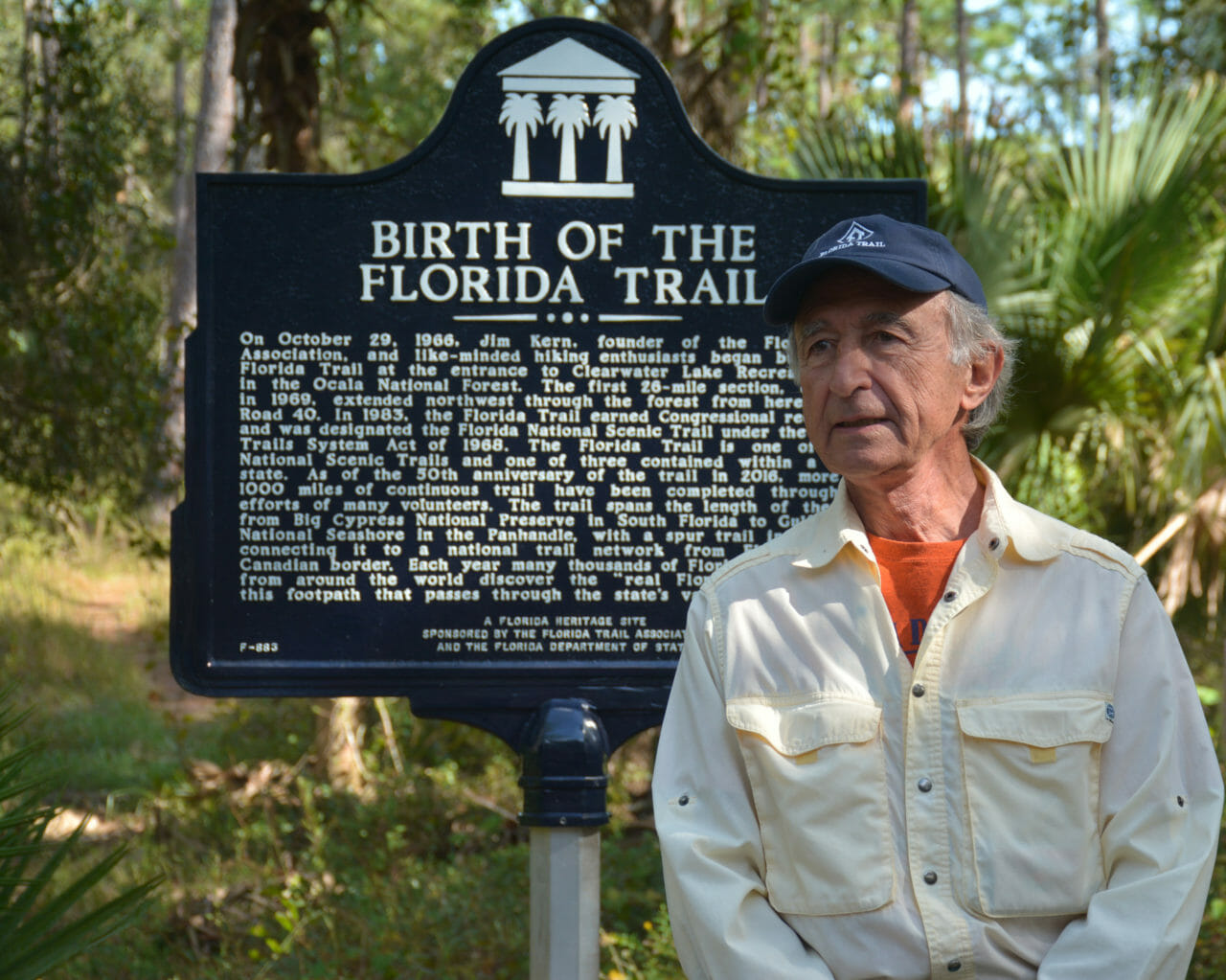 Jim Kern and historic marker