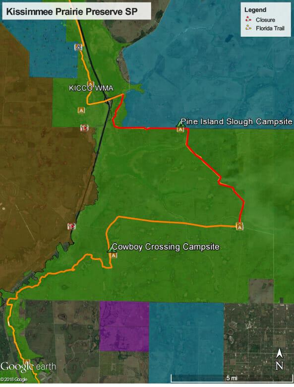 Florida Trail closure Kissimmee