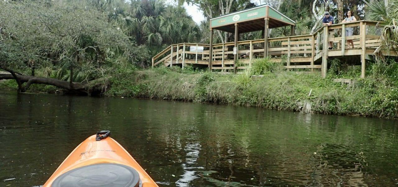 Oli Johnson canoe launch at Turkey Creek Sanctuary