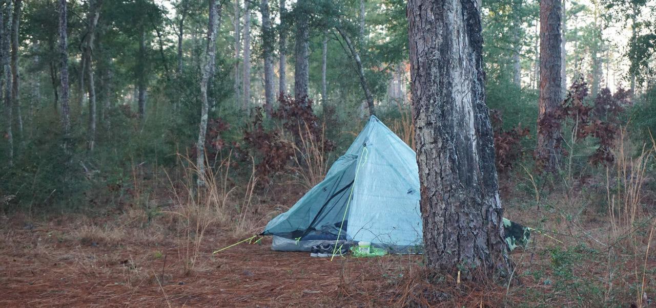 Camping at JR Walton Pond, Eglin
