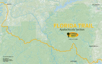 Florida Trail Apalachicola section map
