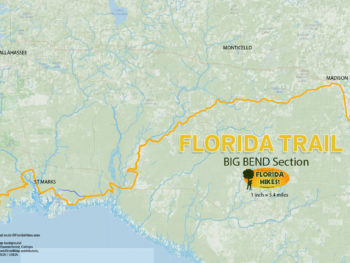 Florida Trail Big Bend section map