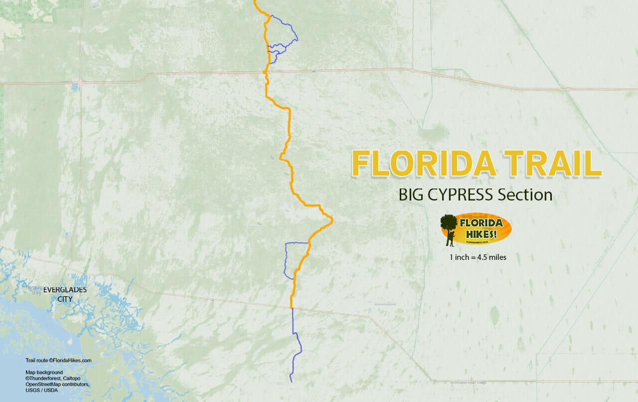 Florida Trail Big Cypress MAP