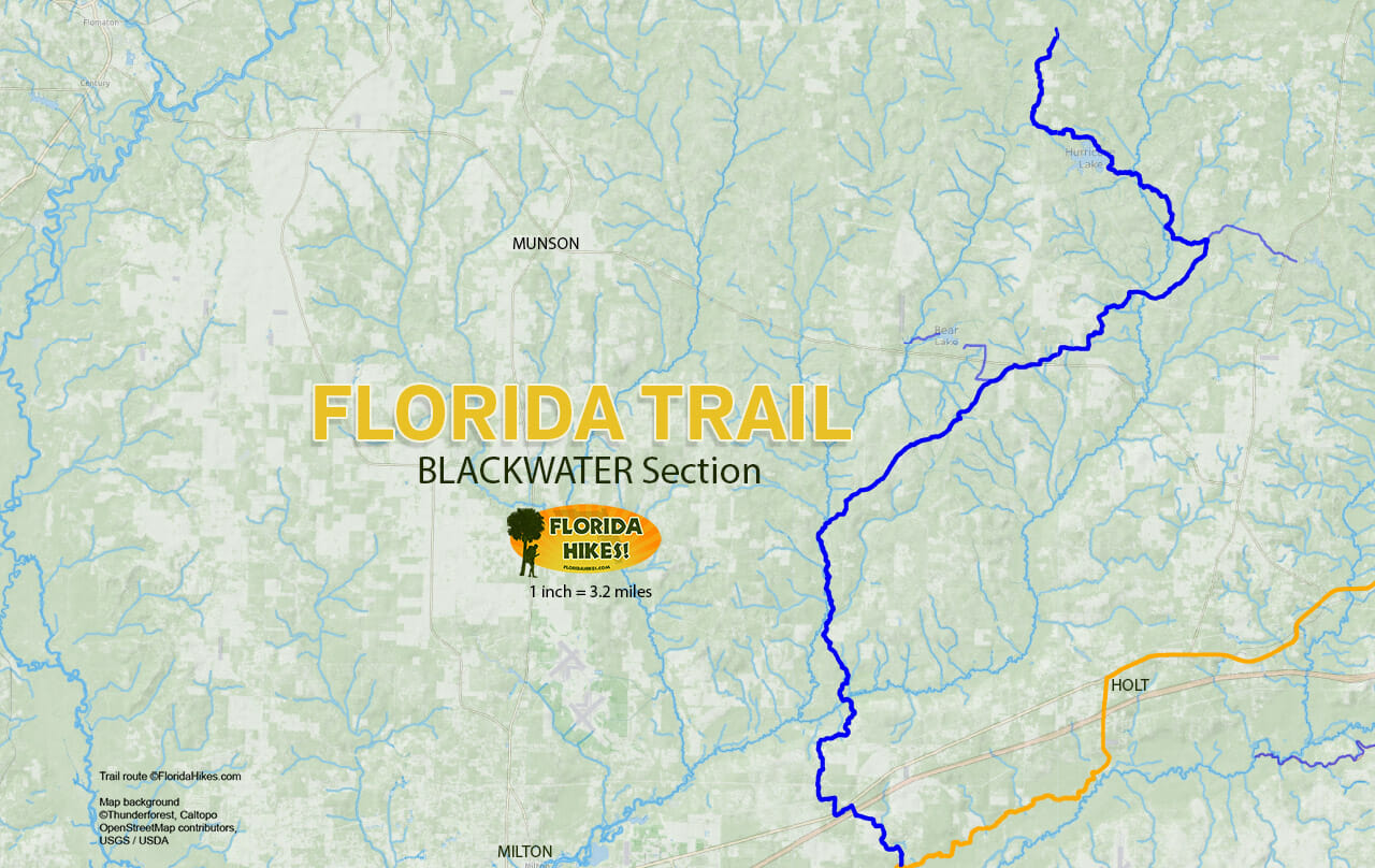 Florida Trail Blackwater section map