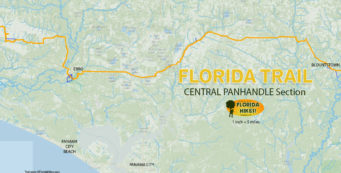 Florida Trail Central Panhandle section map