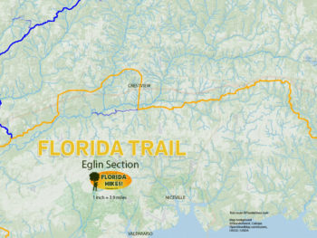Florida Trail Eglin Map