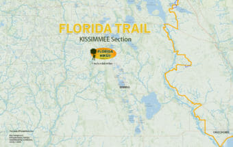 Florida Trail Kissimmee section map