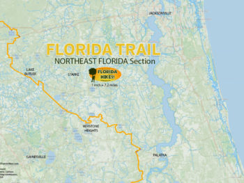 Map Northern Florida.Florida Trail Florida Hikes