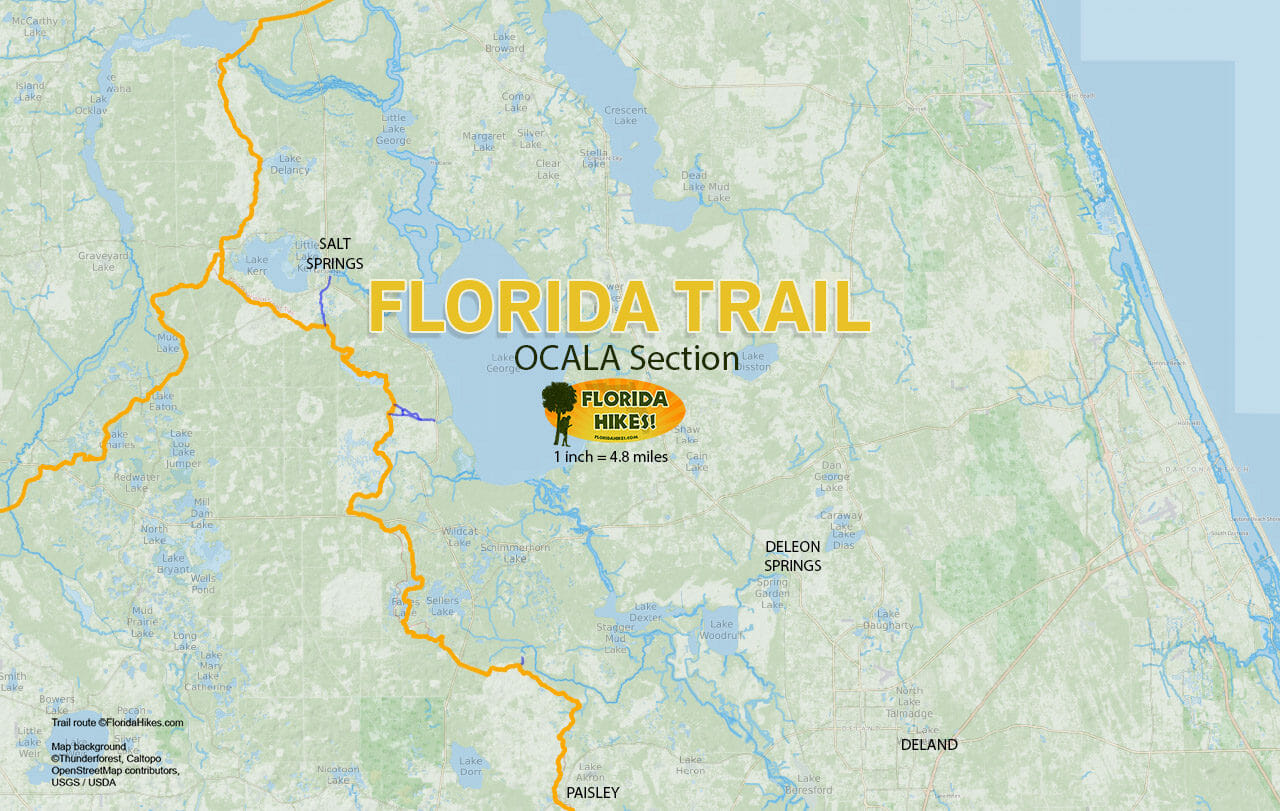Florida Trail Ocala section map
