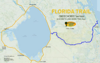 Florida Trail Okeechobee Ocean to Lake section maps