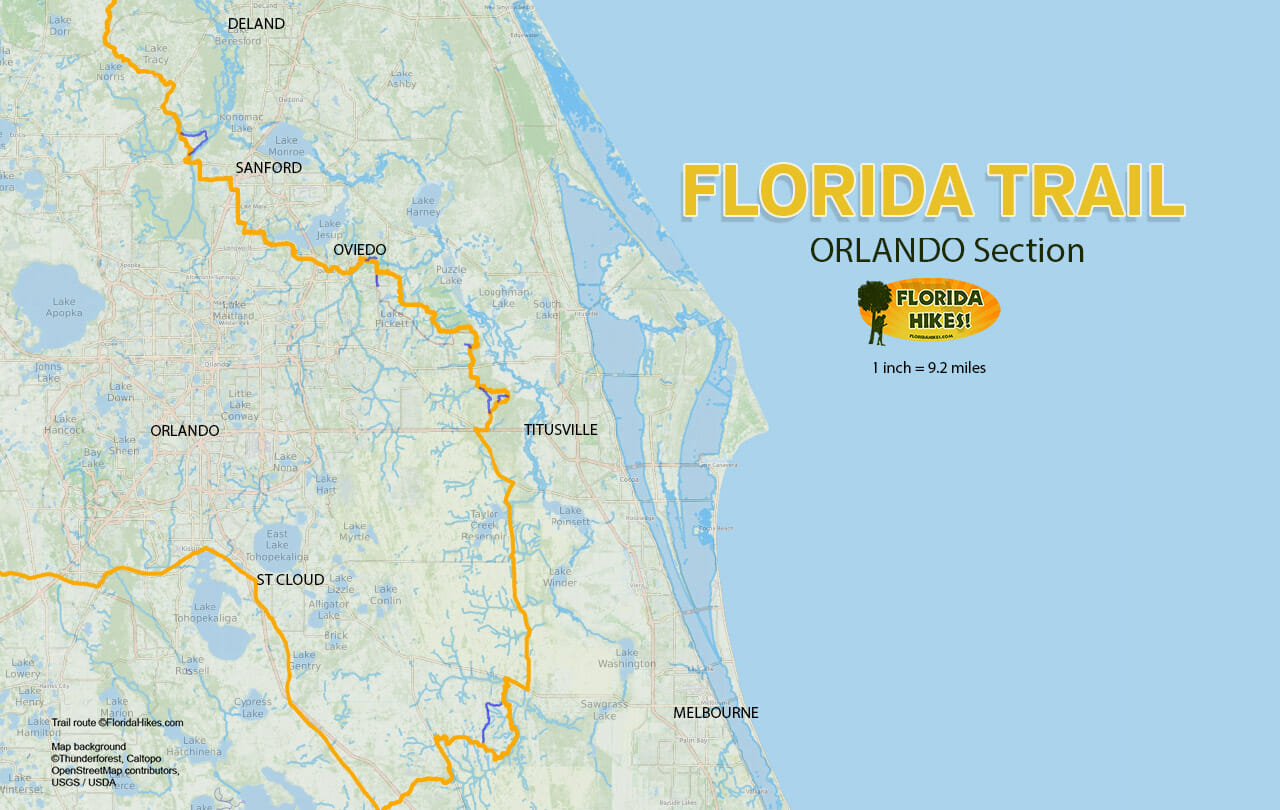 Florida Trail Orlando section map