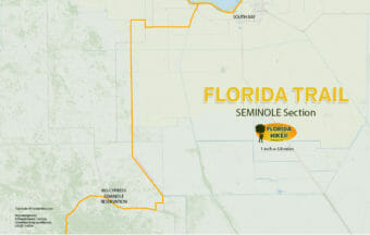 Florida Trail Seminole section map