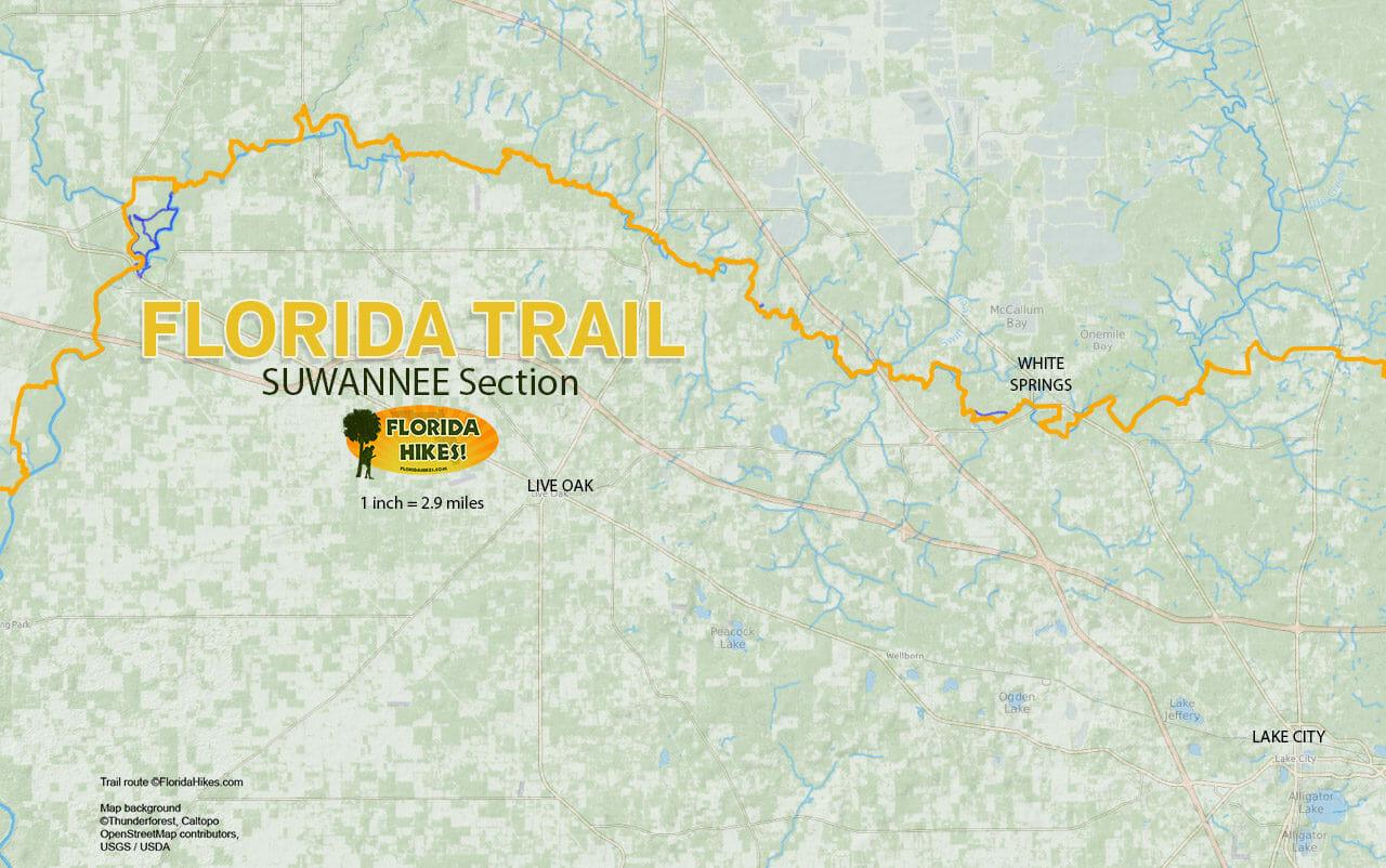 Nudist Resorts In Florida Map.Florida Trail Suwannee Florida Hikes