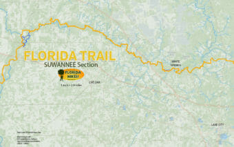 Florida Trail Suwannee section map
