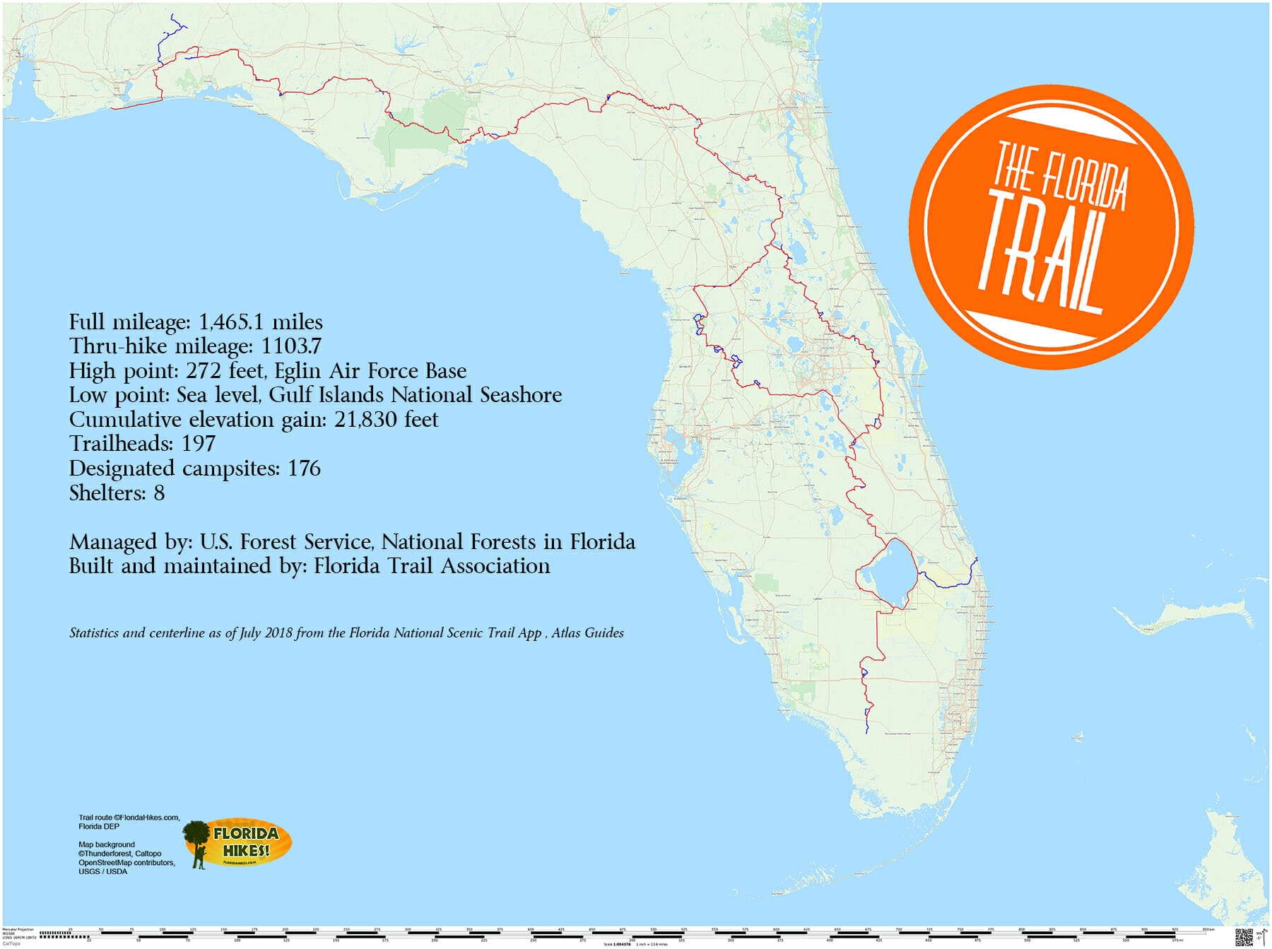 Www Map Of Florida.Florida Trail Florida Hikes