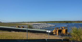 Construction zone along Lake Okeechobee