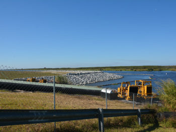 Construction zone along Lake Okeechobee
