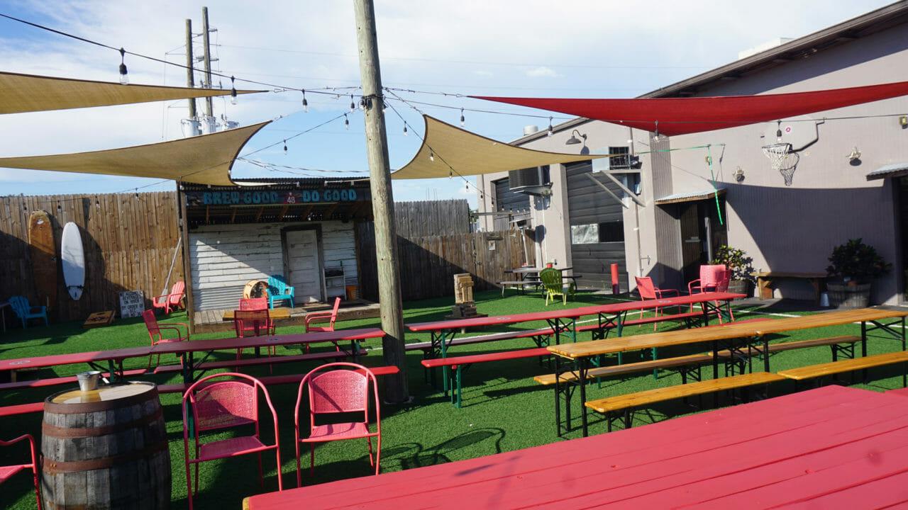 Beer Garden behind the brewery