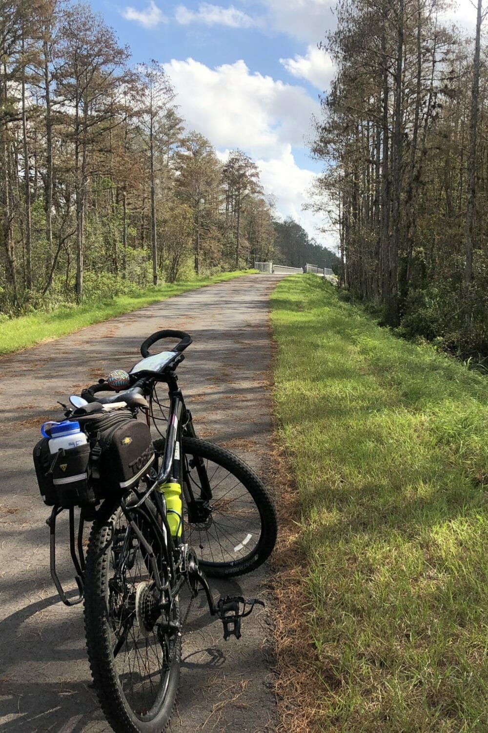 Take a ride on the East Central Regional Rail Trail! This 37-mile Volusia County bike path offers several lengthy ride options on a ribbon of paved trail through colorful swamps and forests, connecting the coastal community of Edgewater with the \