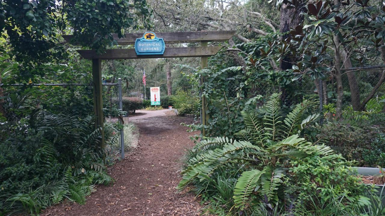 Nature Coast Botanical Gardens entrance