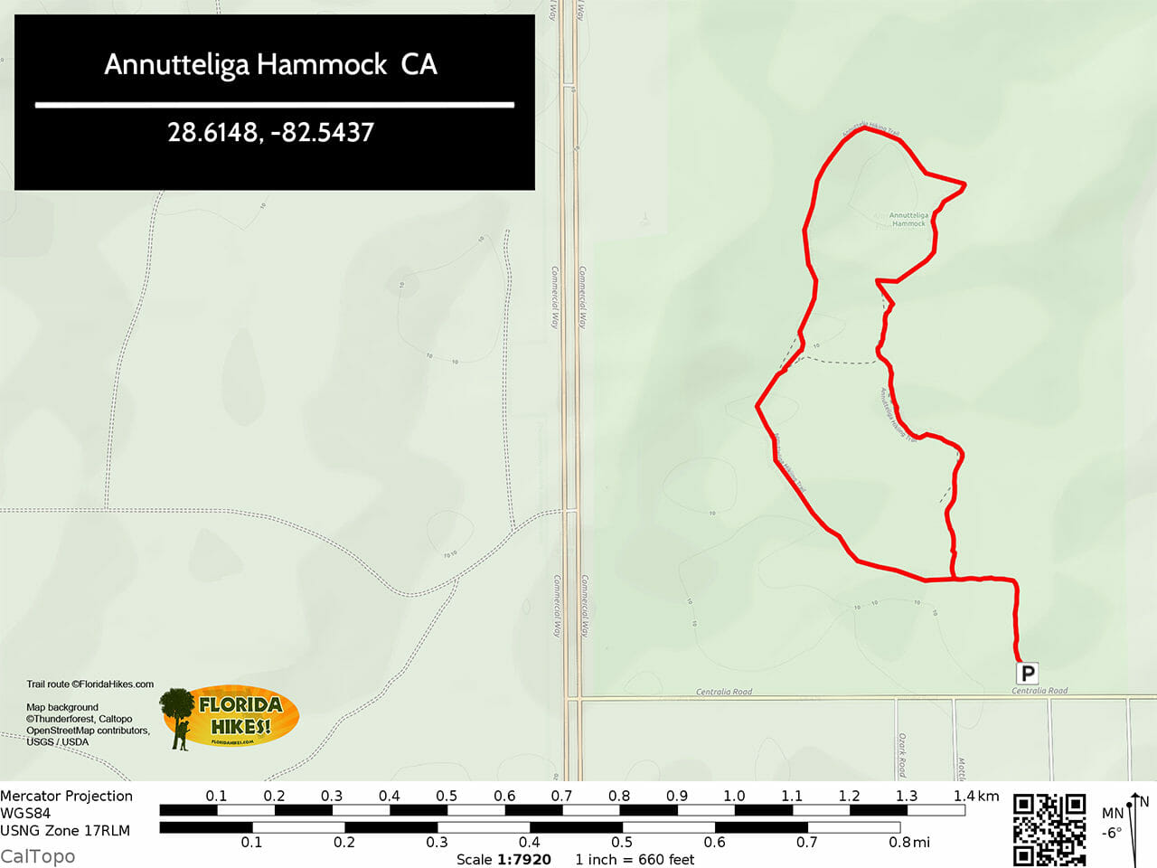 Annutteliga Hammock Trail Map