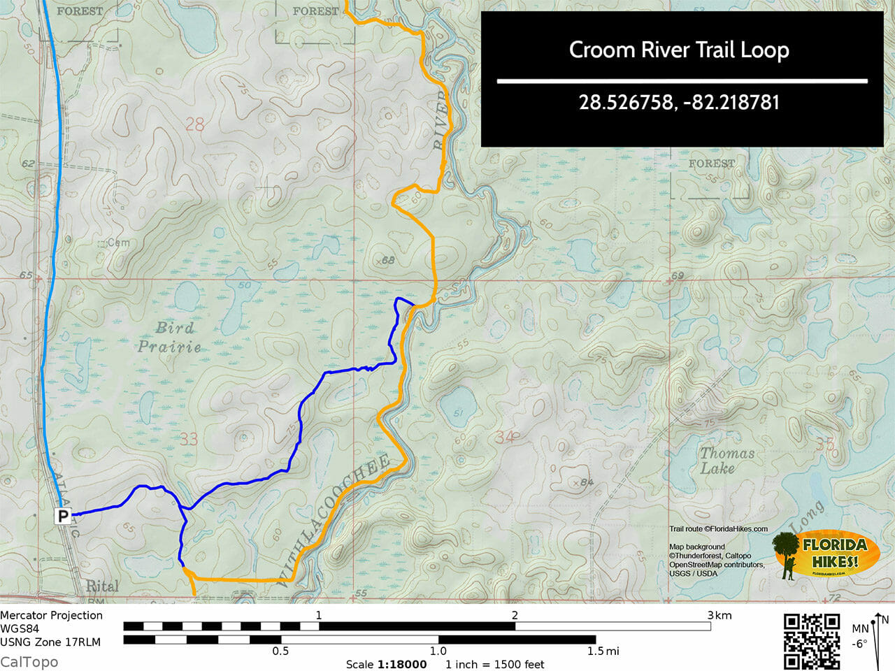 Croom River Trail Loop Map