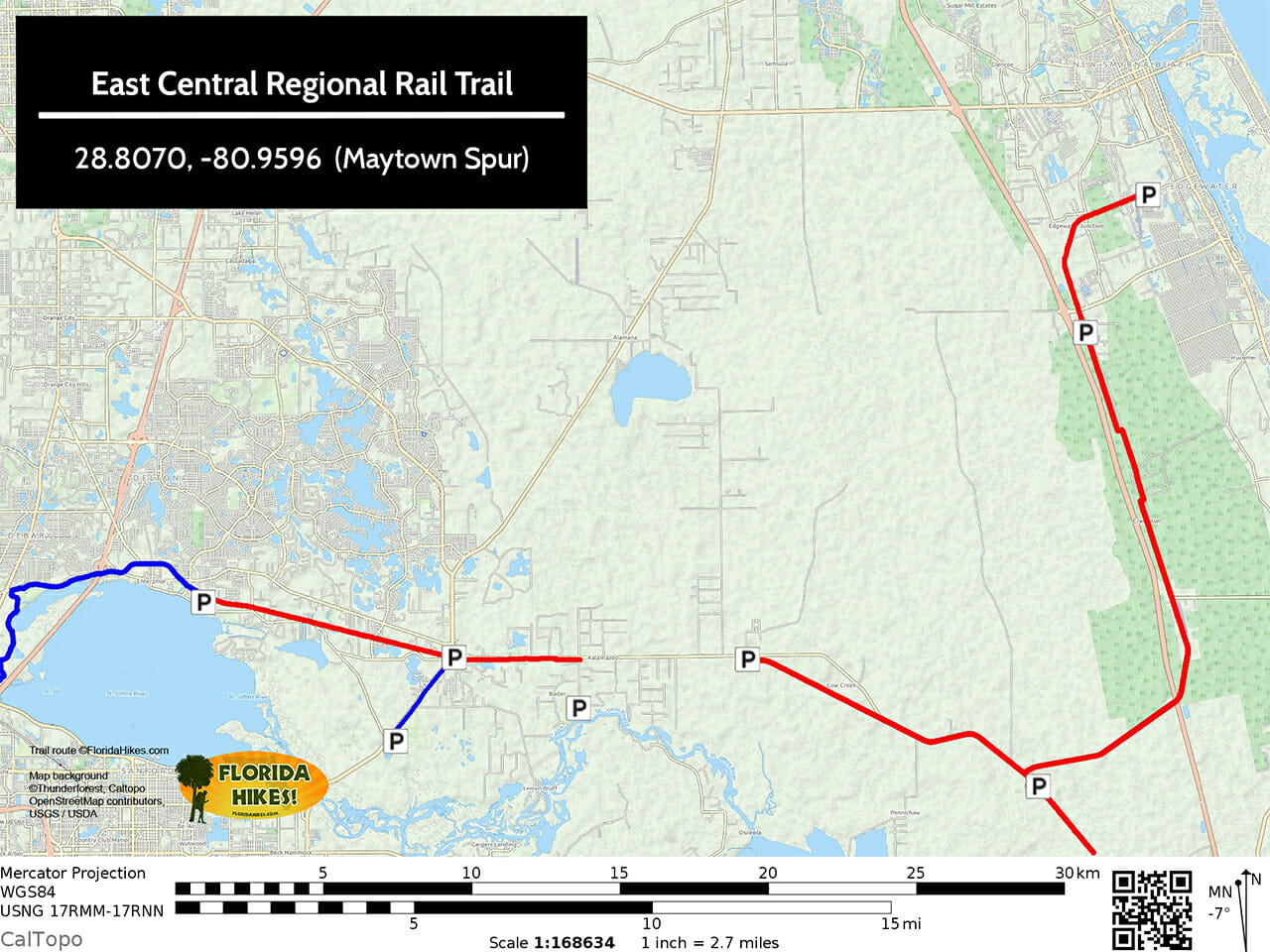 East Central Regional Rail Trail map