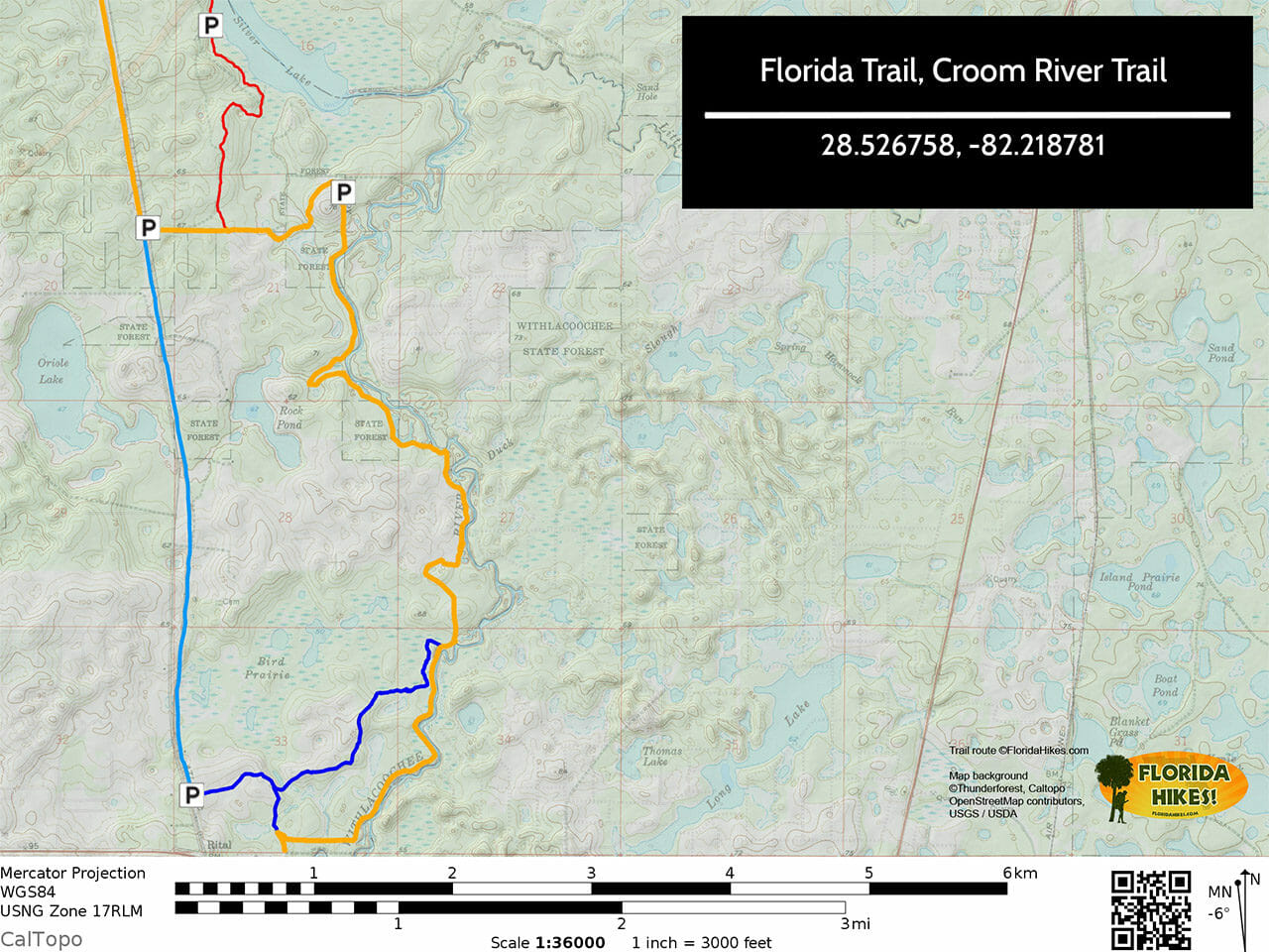 Croom River Trail Map
