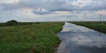 Florida Trail along a canal south of Clewiston