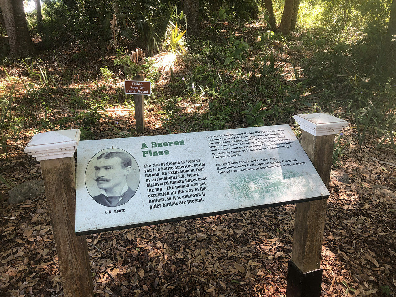 Burial mound at Sams House