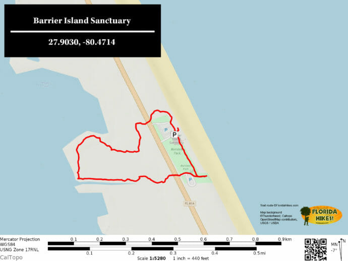 Barrier Island Sanctuary Trail Map