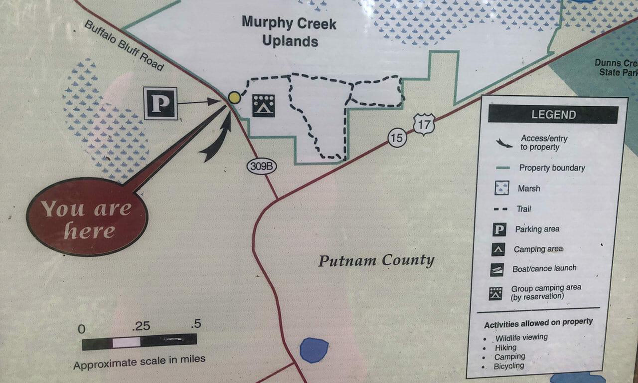 Murphy Creek trail map