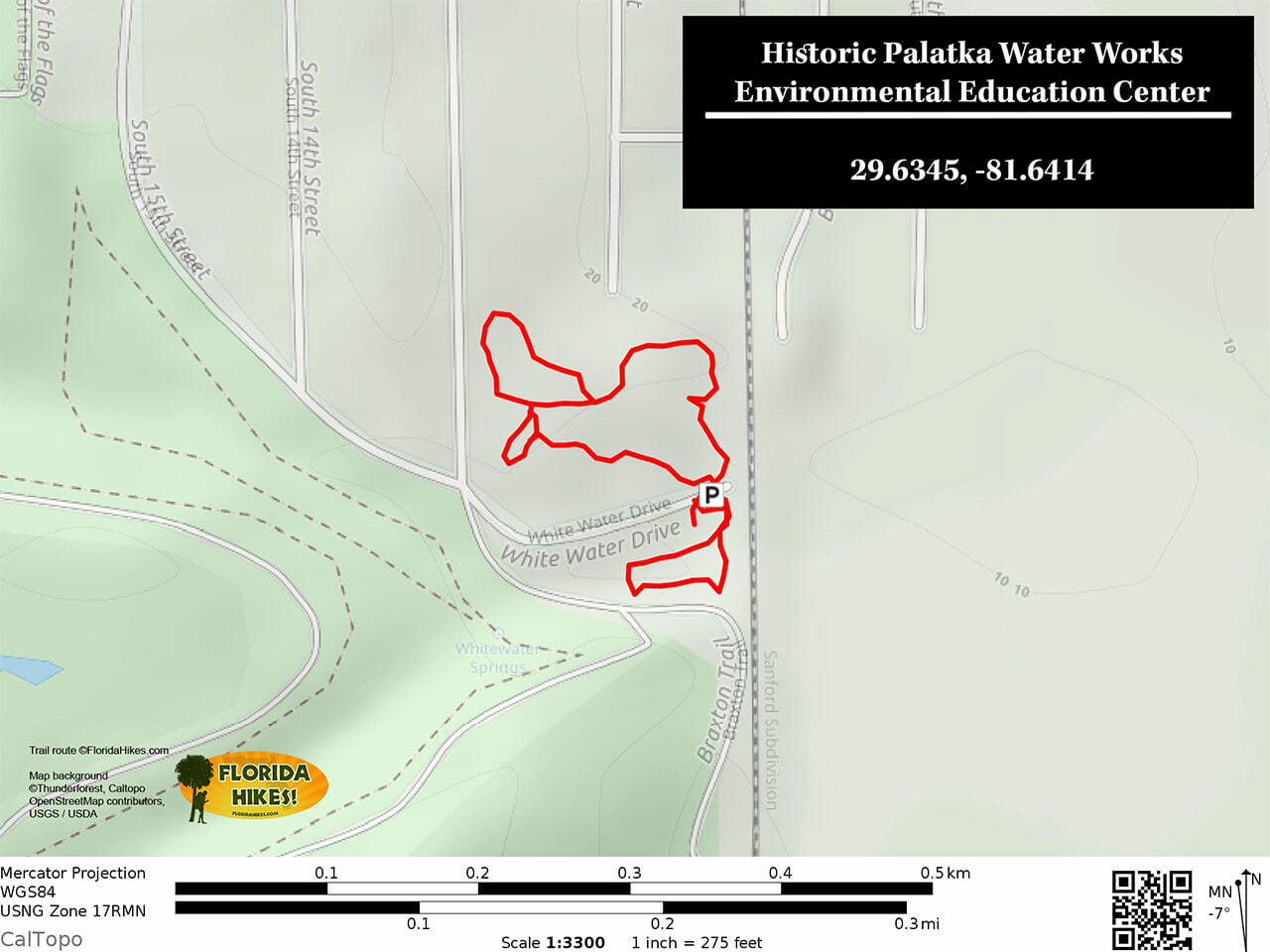 Palatka Water Works Trail Map