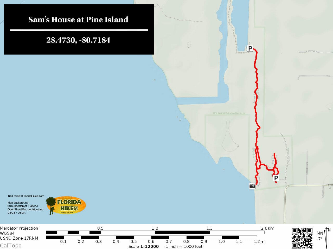 Sams House TRAIL MAP