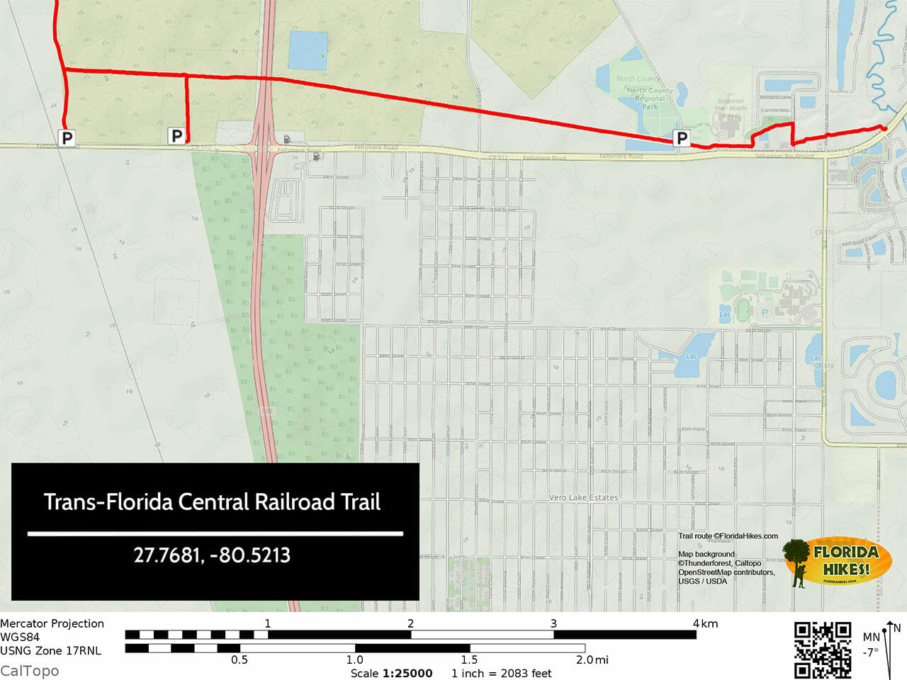 Trans-Florida Central Railroad Trail Map