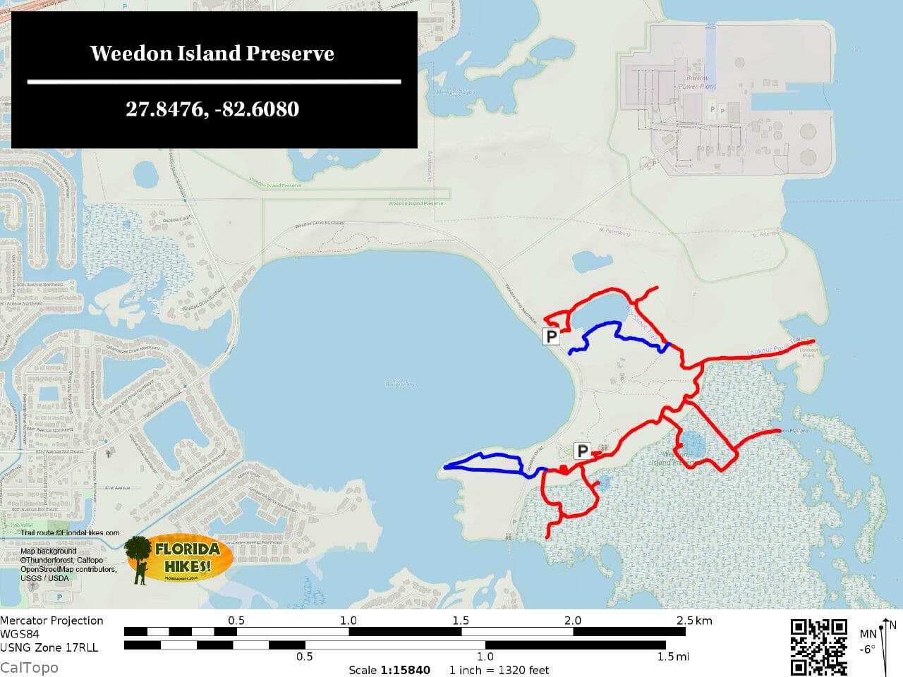 Weedon Island Preserve TRAIL MAP