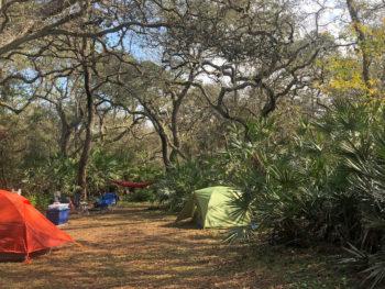 Car camping Lake Mills Park