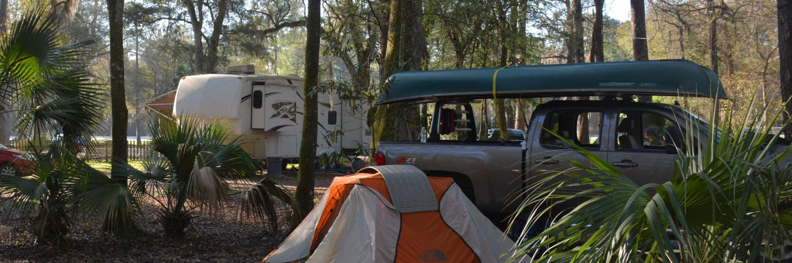 Camping at Newport Park