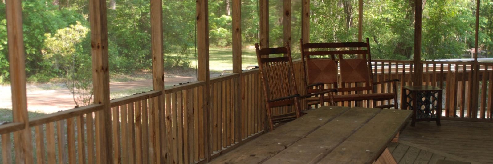 porch at Stephen Foster cabin