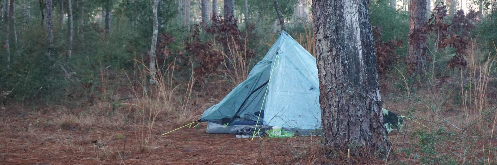 Camping at JR Walton Pond Eglin