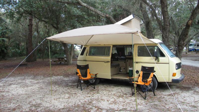 van camping at Kissimmee Prairie