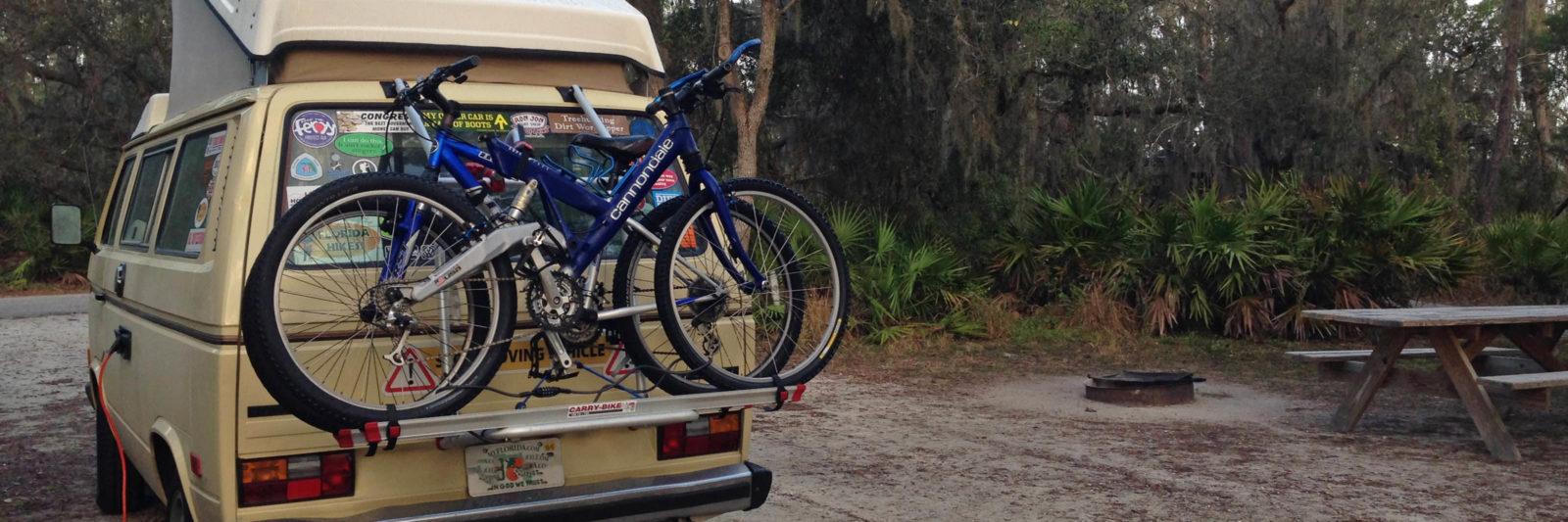 van camping at Lake Manatee