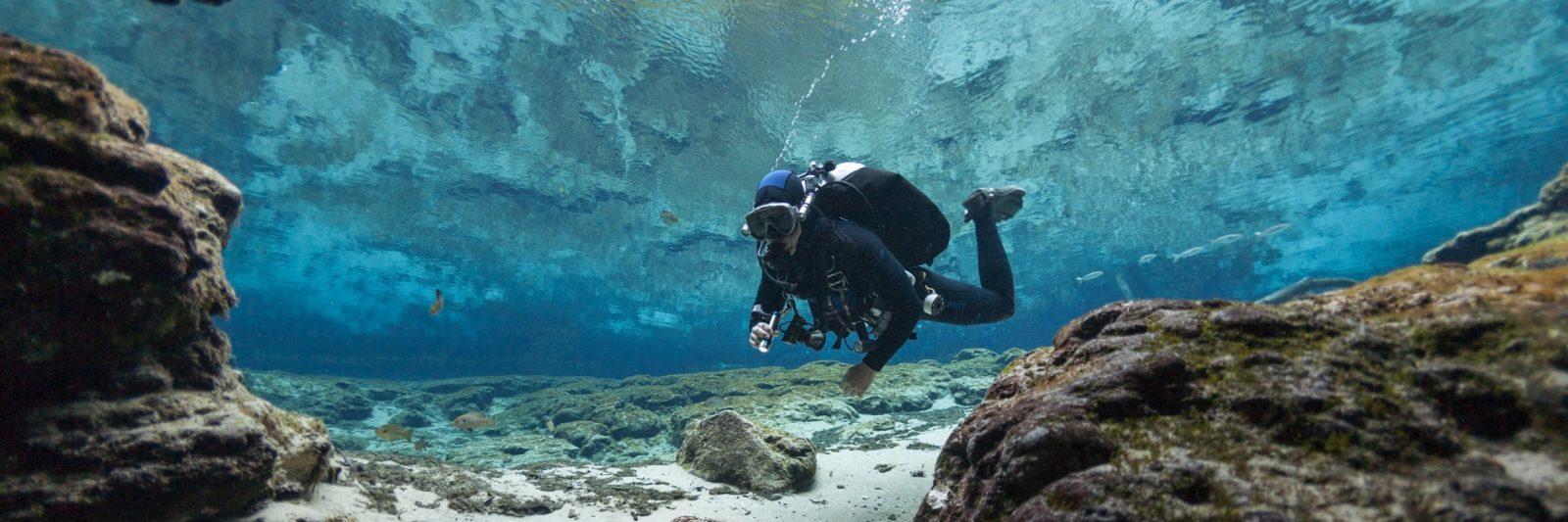 Diving Ginnie Springs