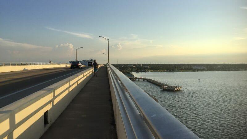 Crossing the Max Brewer Bridge