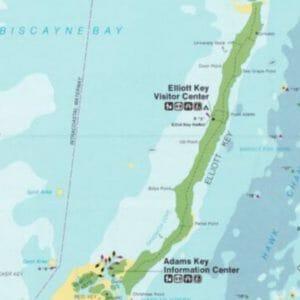 Elliott Key Biscayne Map