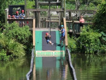 Sally White zip line Gatorland