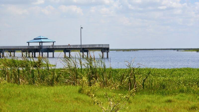 Lake Okeechobee pier
